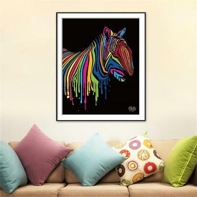 Colorful Animals Abstract Framed Oil Painting By Numbers DIY Painting Home.w/
