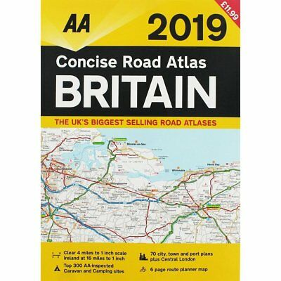 Concise Road Atlas Britain 2019 (New)
