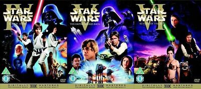 Star Wars Theatrical Cinema Release Cinematic The Original Trilogy DVD Set 4 5 6