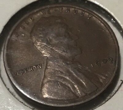 VINTAGE vdb 1909 LINCOLN ONE CENT COIN WHEAT PENNY V. D. B. FREE SHIPPING