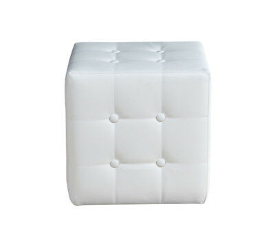 Giby F pouf in ecopelle BIANCO