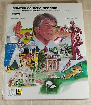 Sumter County, Georgia 1977 Residential Edition Telephone Book Jimmy Carter