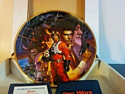 Star Wars Trilogy Collection STAR WARS Hamilton Collector Plate Orig Box COA