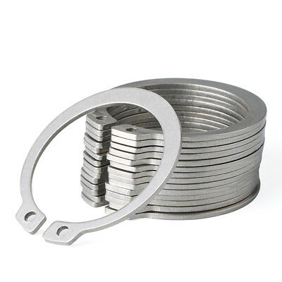External Retaining Ring,Snap Rings for Shaft,304 Stainless Steel,Φ10mm-Φ18mm