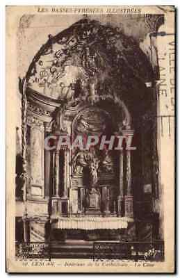 CPA Les Basses Pyrenees Illustrees Lescar Interieur de la Cathedrale La Came