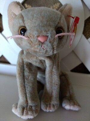 TY Beanie Baby ~ SCAT Cat ~ NEW with Tags Retired with PE Pellets & Tag Error