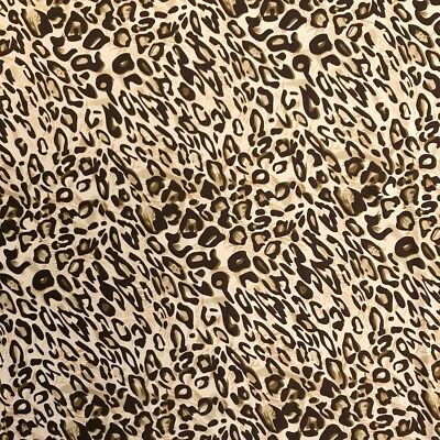 "DTY Fabric Leopard (9-1) Printed Stretch Brushed Jersey Knit Apparel 58/60"" Wide"