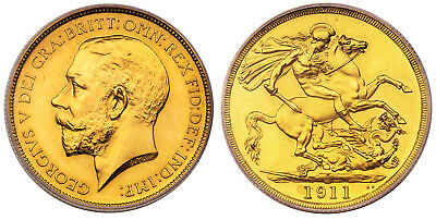 GR. BRIT. George V1911 AV Two Pounds PCGS PR64 KM 821; SCBC-3995; Fr-403