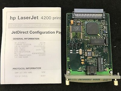J3113A HP LaserJet Jetdirect 600n Print Server Card 10/100TX Free Shipping!!!