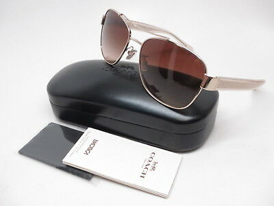 3825cc4bc0 Coach HC 7064 L151 926513 Light Gold   Crystal Light Brown Sunglasses