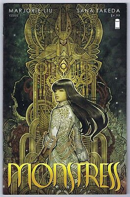 Monstress #1 Near Mint Signed w/COA Majorie Liu Writer 2015 Image Comics