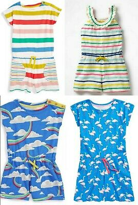 Ex-Mini Boden Girls Cute Rainbow -Planes Playsuit All In One -Ages 2-12