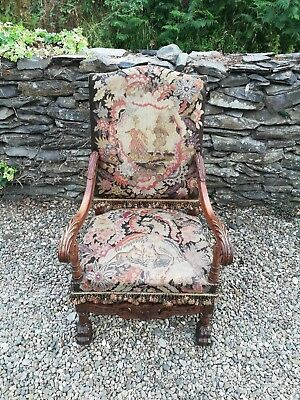 Antique French Walnut Chair Late 19th Century