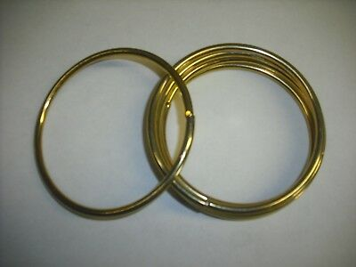 """2.5"""" Macrame Brass Polished Rings Lot Of 5 Free Shipping"""