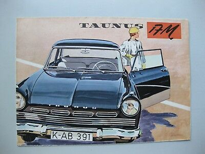 Ford Taunus 17M folder brochure Depliant Prospekt English text 1961 12 pages