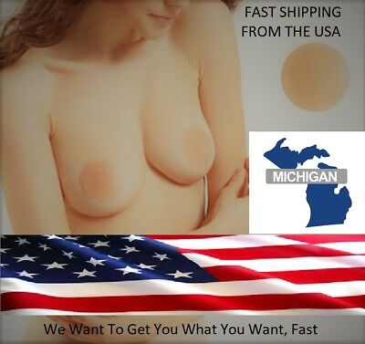 Nipple Cover Pair Reusable Silicone Bra Pad Pasties Sticky Shipped Free