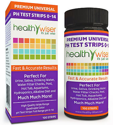 pH Test Strips 0-14, Universal Strips To Test, Water, Garden Soil, and more!