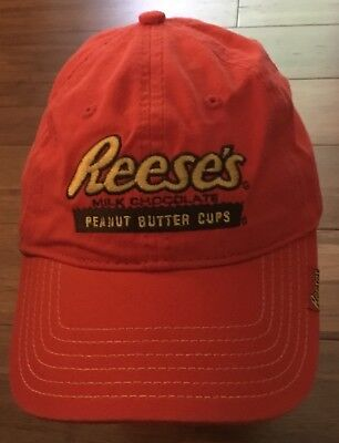 Nice! Reeses Peanut Butter Cups Hat Cap Milk Chocolate Excellent Shape!