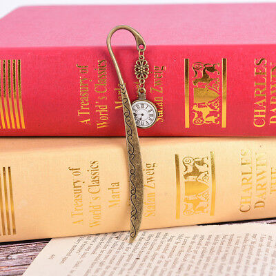 retro vintage metal alloy bronze bookmark document book mark label diy KQ