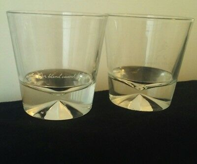 "Johnnie Walker glasses ""Our blend cannot be beat"" LOT 2 Pre-owned"