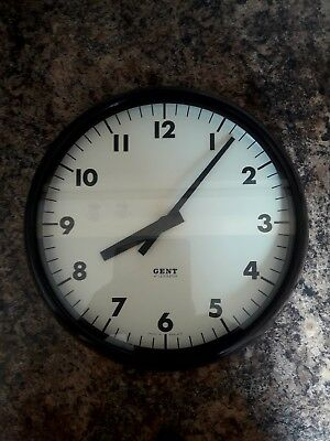 Lovely 38cm bakelite Vintage (not slave)Gent Of Leicesster 1940/ 1950s Clock