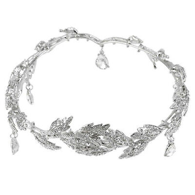 Elegant Bridal Rhinestone crystal prom hair chain forehead band Headpiece ( X3N7