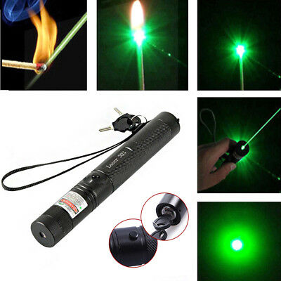 High Power Military 532nm 303 Green Laser Pointer Pen Burning Beam Charger < 1mW