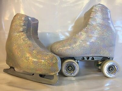 Holo Bubbles Boot Covers for RollerSkates and Ice Skates  S,M