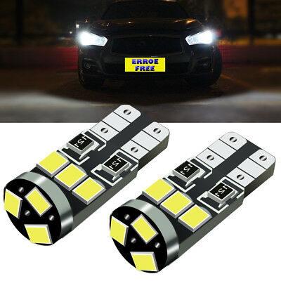 Pair of Xenon 9 SMD WHITE LED Side Light Bulbs Canbus Error Free For VW SCIROCCO