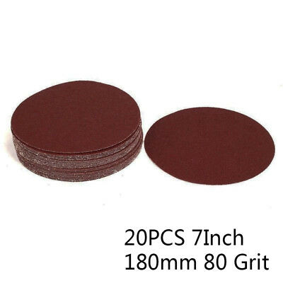 20x Grinding Polishing Hook and Loop Sanding Disc Sandpaper 80 Grit 7inch Dia