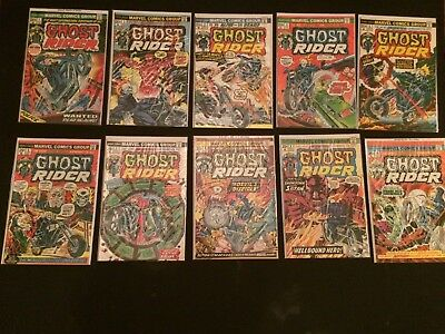Ghost Rider 1-20 mid to high grade complete run classic Bronze Age Marvel comics