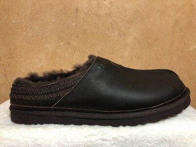 3d943d252ab UGG MENS NEUMAN Indoor / Outdoor Suede and Wool Black Slippers Sz. 8 ...