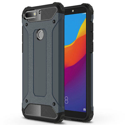 Rugged Rubber PC Shockproof Armor Case for Huawei Y5/Y6/Y7/Y9 2018 P Smart Cover