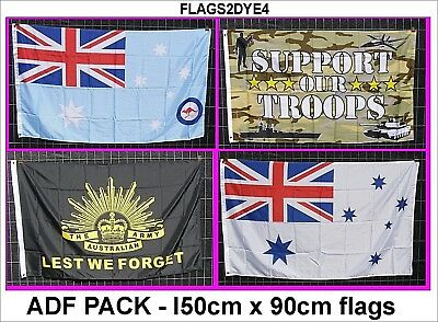 support our troops flag RAN RAAF ARMY rising sun ANZAC Lest we forget flag