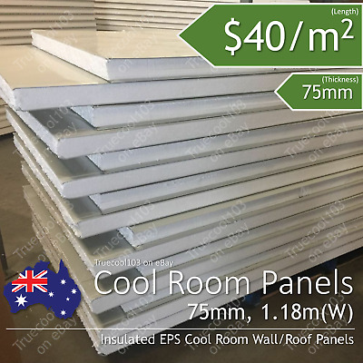 Thickless 75mm ,1180mm width Insulated EPS Coolroom Wall panel/ Roof Panel /m²