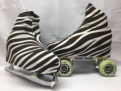 Brown Zebra Boot Covers for Roller Skates/Ice Skates SMALL  ONLY
