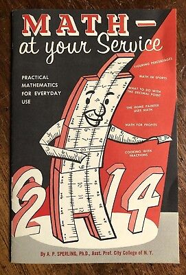 """1956 Employee Book """"Math At Your Service"""" by General Motors RACIST ASIAN IMAGES"""