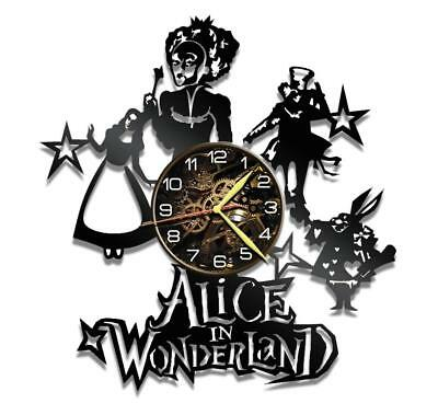 Alice Wonder Watch Vinyl Record Wall Clock Living Room Home Decor Art Gift Idea