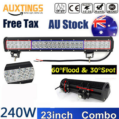 23'' 240W CAR LED WORK LIGHT BAR FLOOD SPOT OFFROAD ATV 4X4 DRIVING UTE For JEEP