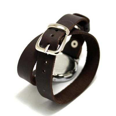 Watch Buckle Clasp Classic Genuine Leather Retro Wrist Strap Vintage Thick Long
