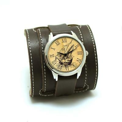 Watch Buckle Genuine Leather Wrist Strap Clasp Thick Classic Retro Vintage New