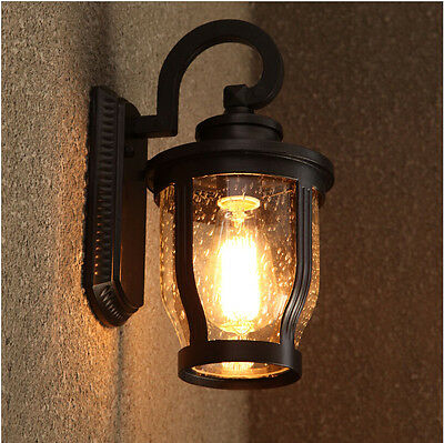 Retro Vintage Glass Wall Lights Aisle/Garden Lights Rainfpoor Wall Lamp 1523HC