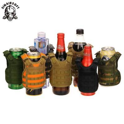 Tactical Vest Beer Bottle Soda Cooler Mini Airsoft Vest Model Cup sleeve 16 oz