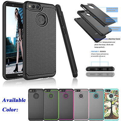 For Huawei Honor 7X / MATE SE Shockproof Hybrid Rugged Rubber Hard Case Cover