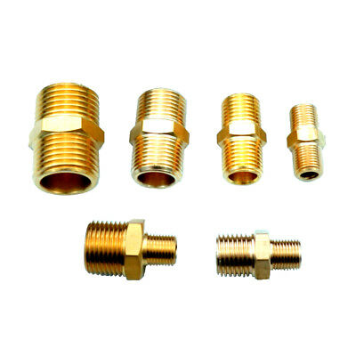 Brass Pipe Fitting Reducing Or Equal Hex Nipple Connector BSPP Air Boat Gas
