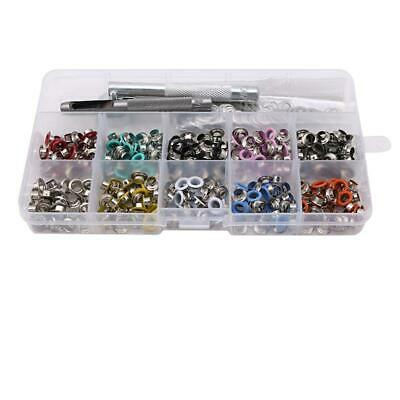 NEW Eyelet Punch Die Tool Set For Leather Craft Clothing Grommet Eyelet T