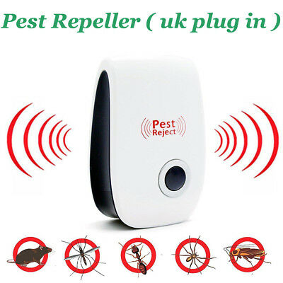 Electronic Ultrasonic Pest Repeller with Plug In Reject Insect Ants Fly Mice Bug