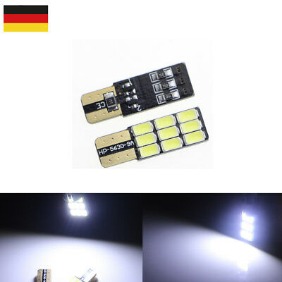 2pcs T10 5630 9 SMD LED CANBUS Wedge Lampe Signallicht Türlicht Weiß