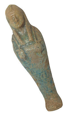 "Egyptian Rare Mummy Ushabti 6"" Pharaoh Figure Statue Horus Eye Ancient  201"