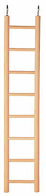 8 Rung Wooden Ladder Bird Budgie Rodent Hamster Mouse Gerbil Cage Toy 36cm